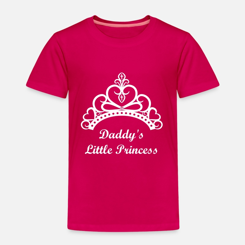 Classy Baby Clothing - Princess Crown Tiara - Toddler Premium T-Shirt dark pink
