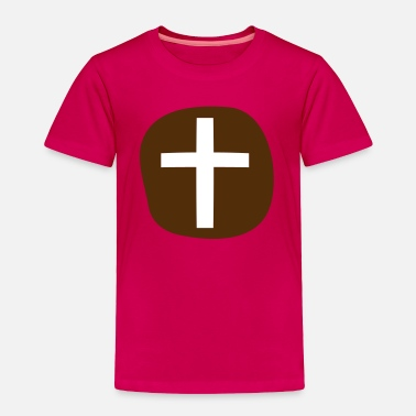Hot Cross Buns a simple hot cross bun for EASTER - Toddler Premium T-Shirt