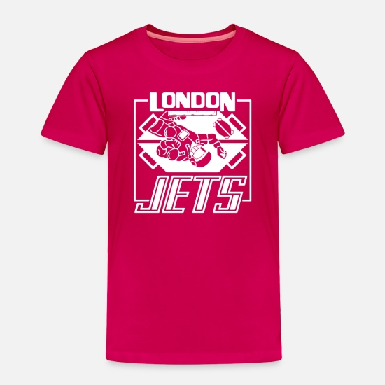 Game Baby Clothing - Dave Lister London Jets - Toddler Premium T-Shirt dark pink