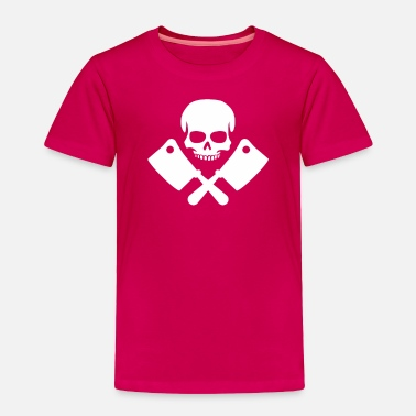 Humour Skull And Knifes - Toddler Premium T-Shirt