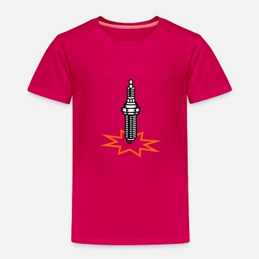 Spark A spark plug with spark - Toddler Premium T-Shirt