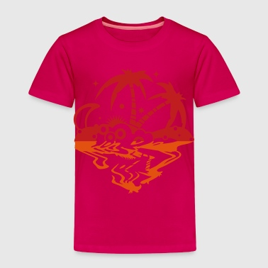 An island in the sea - Toddler Premium T-Shirt