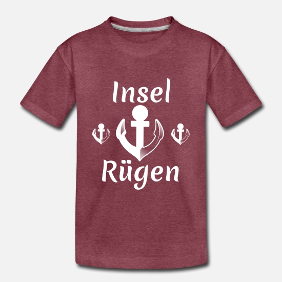 German Baby Clothing - island of rügen,island,rügen,holiday,anchor - Toddler Premium T-Shirt heather burgundy