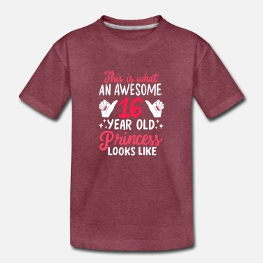 Celebrate Awesome 16 Year Old Princess 16th Birthday Gift - Toddler Premium T-Shirt