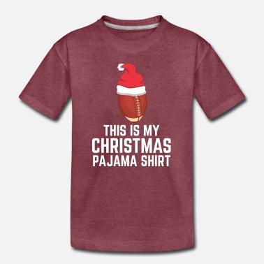 Snowman My Christmas Pajama Shirt Holiday Rugby Gift - Toddler Premium T-Shirt
