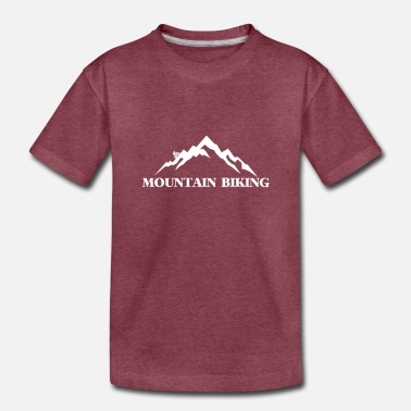 Triathlon Mountain Biking - Toddler Premium T-Shirt