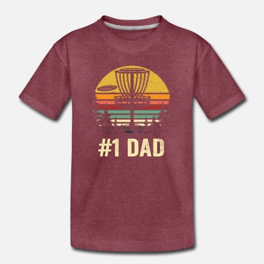 Golf #1 Dad Disc Golf Shirt - Number One Dad Frisbee Go - Toddler Premium T-Shirt