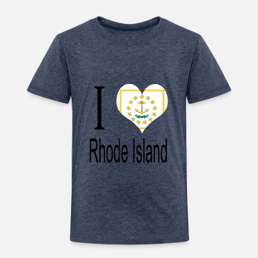 Set I Love Rhode Island Heart Country USA gift flag - Toddler Premium T-Shirt