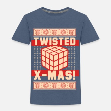 Cube Rubik's Cube Ugly Sweater Twisted X-Mas - Toddler Premium T-Shirt