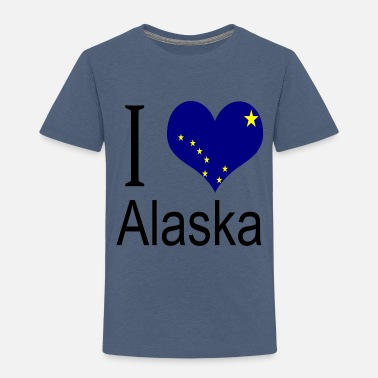 Children I Love Alaska Heart Country USA gift flag - Toddler Premium T-Shirt