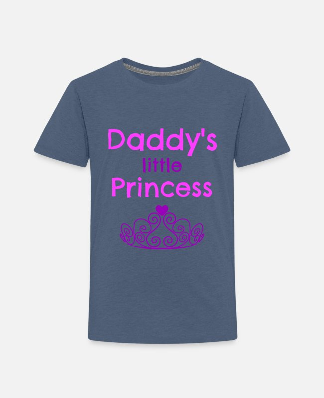 Daddys Little Princess T-Shirts - Daddys Little Princess - Toddler Premium T-Shirt heather blue