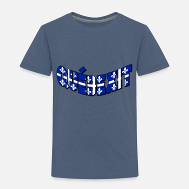 QUEBEXIT FLAG OVER TEXT - Toddler Premium T-Shirt
