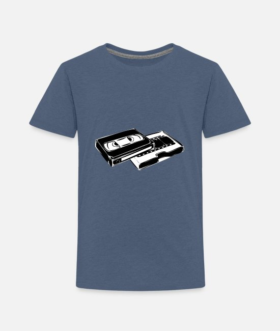 Music Baby Clothing - cassettes videotape - Toddler Premium T-Shirt heather blue