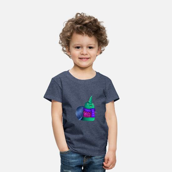 Christmas Baby Clothing - snail - Toddler Premium T-Shirt heather blue