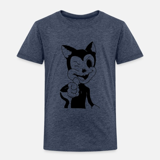 Music Baby Clothing - Dave the Cat - Toddler Premium T-Shirt heather blue