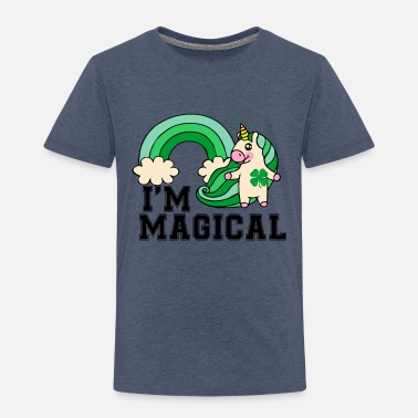 Magic Im Magical Rainbow Unicorn St Patricks Day Boy - Toddler Premium T-Shirt