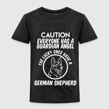 CAUTION EVERYONE HAS A GUARDIAN ANGEL THE LUCKY ON - Toddler Premium T-Shirt