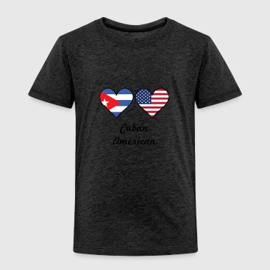 Cuban American Flag Hearts - Toddler Premium T-Shirt
