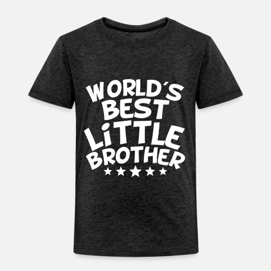 Little Baby Clothing - World's Best Little Brother - Toddler Premium T-Shirt charcoal gray