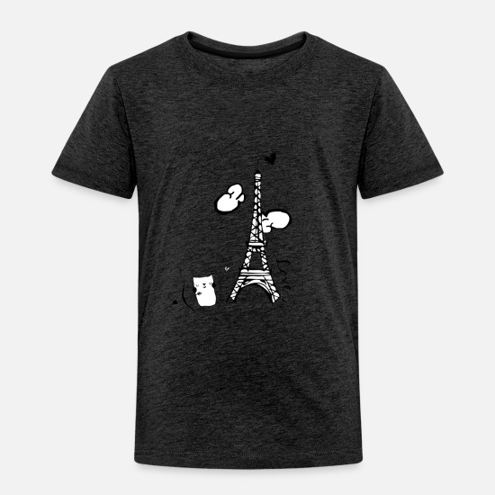 Love Baby Clothing - Cat Cupid - Toddler Premium T-Shirt charcoal gray