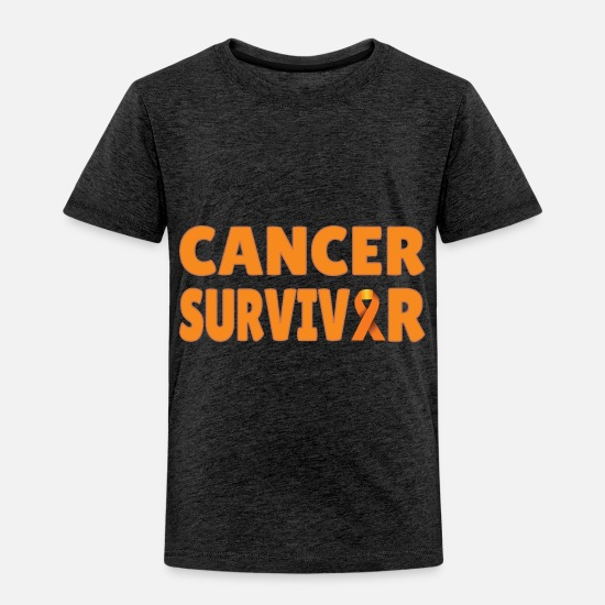 Survivor Baby Clothing - Leukemia: Cancer Survivor - Toddler Premium T-Shirt charcoal gray