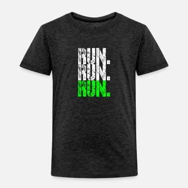 Running run run run neongreen - Toddler Premium T-Shirt