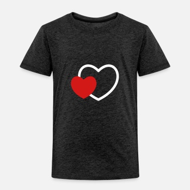 I Heart Heart in the heart I 2 Hearts Love Gift - Toddler Premium T-Shirt