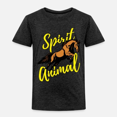 Spirit Horse Spirit Animal for Horseback Riders - Toddler Premium T-Shirt
