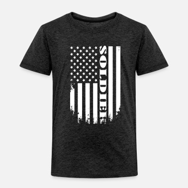 Proud Soldier of America - USA SOLDIER TEE - Toddler Premium T-Shirt