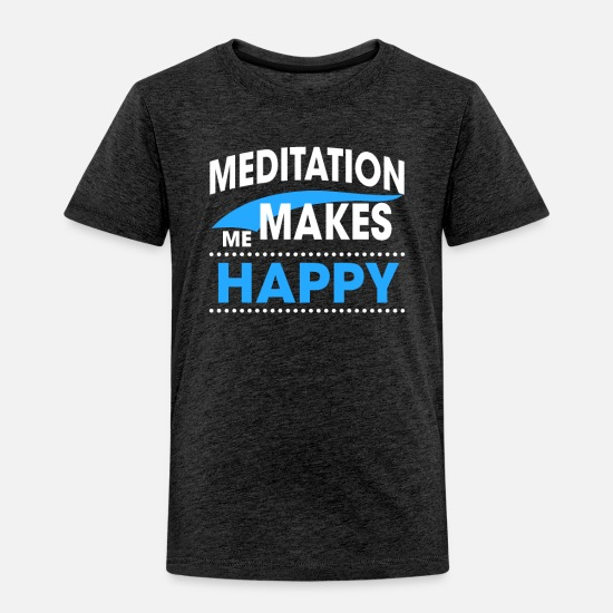 Meditation Baby Clothing - MEDITATION - Toddler Premium T-Shirt charcoal gray