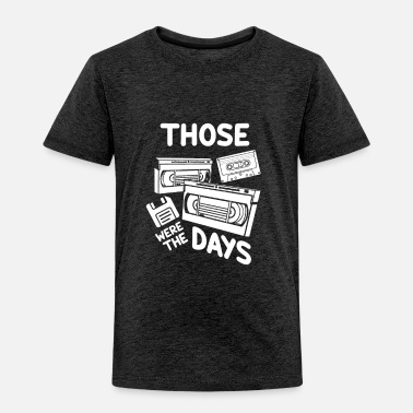 Analogue Retro VHS Cassette Tape Floppy Disc Gift | 80s 90s - Toddler Premium T-Shirt