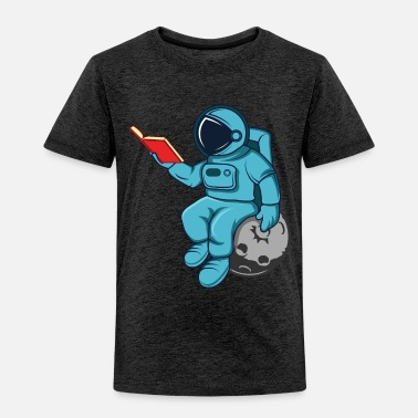 Constellation Funny Astronaut Read Book In Space Gift Science - Toddler Premium T-Shirt