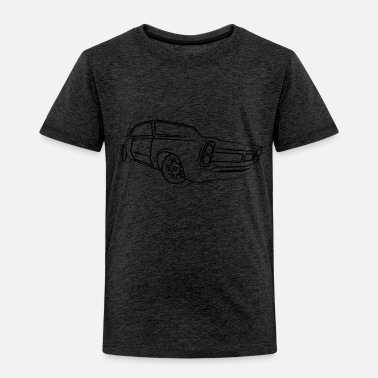 Vintage Old School Retro Classic Car Side Muscle Car Gifts - Toddler Premium T-Shirt