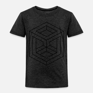 Abstract Abstract Illusion Shapes - Toddler Premium T-Shirt
