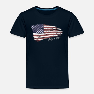 Independence Independence Day 4th of July American Flag 1776 - Toddler Premium T-Shirt