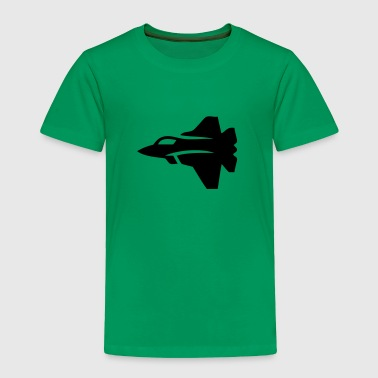 Jet Fighter Plane (Silhouette) - Toddler Premium T-Shirt