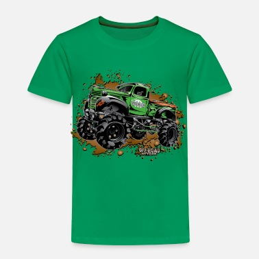 Monster Truck Over Budget Mud Truck - Toddler Premium T-Shirt