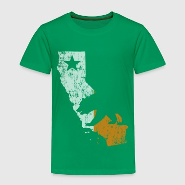Cali Outline Ireland Flag - Toddler Premium T-Shirt
