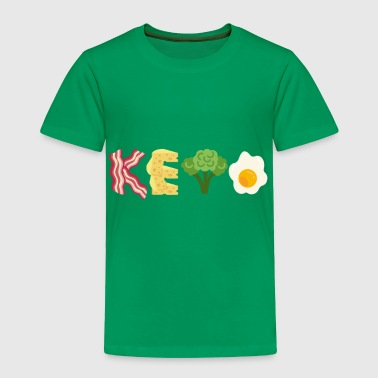 Keto Bacon Cheese Broccoli Egg Letters - Toddler Premium T-Shirt