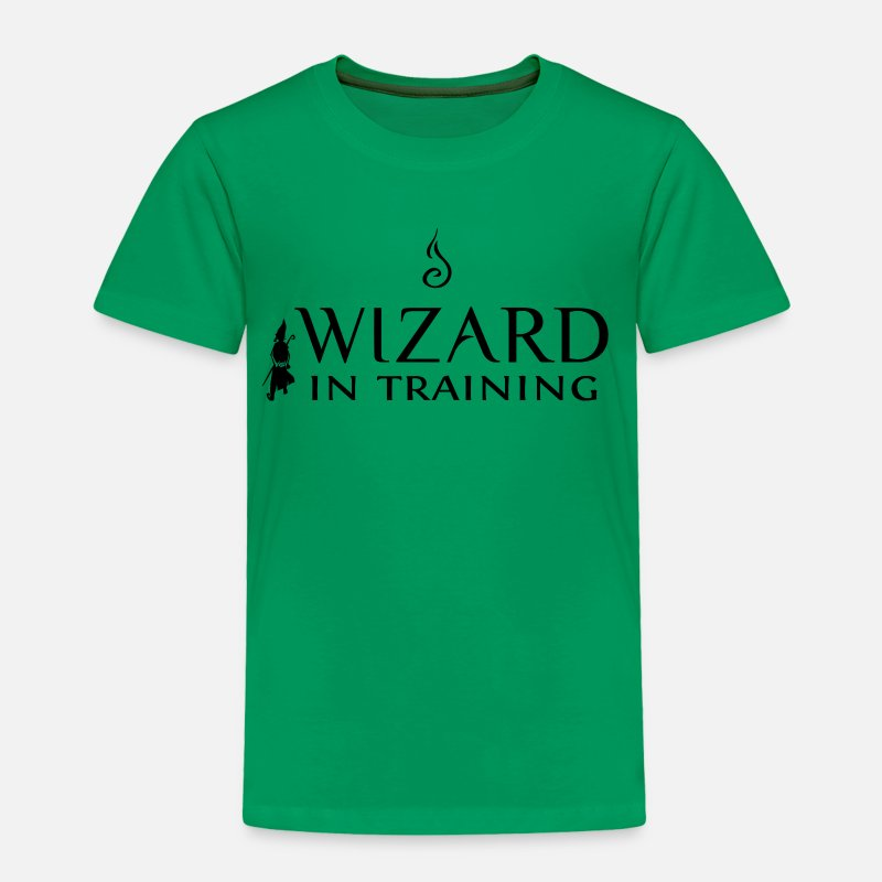 Fantasy Baby Clothing - Wizard In Training - T-Shirt for Boys - Toddler Premium T-Shirt kelly green