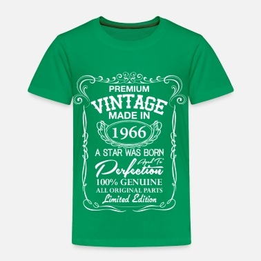 50th Birthday Premium Vintage 1966 - Toddler Premium T-Shirt