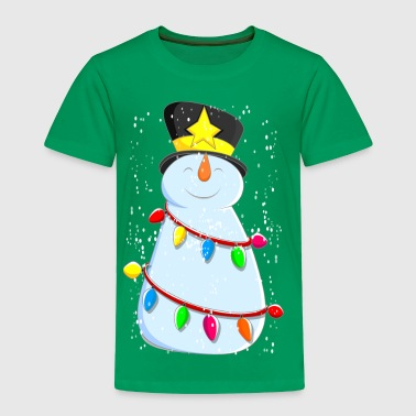 Cute Snowman With Snow - Toddler Premium T-Shirt