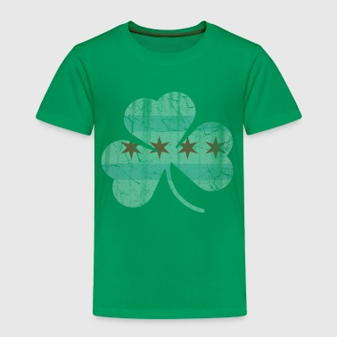 Irish Chicago Flag Shamrock - Toddler Premium T-Shirt