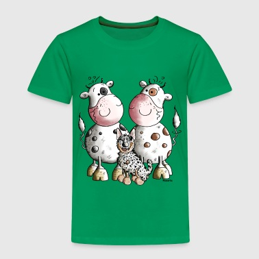 Australian Cattle Dog And Cows - Toddler Premium T-Shirt