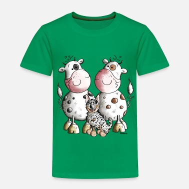Australian Animals Australian Cattle Dog And Cows - Toddler Premium T-Shirt