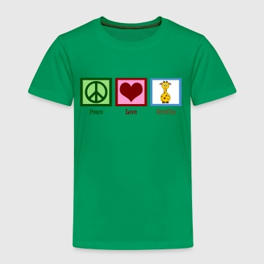 Peace Love Giraffes - Toddler Premium T-Shirt
