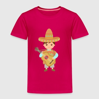 boy mexican guitar - Toddler Premium T-Shirt
