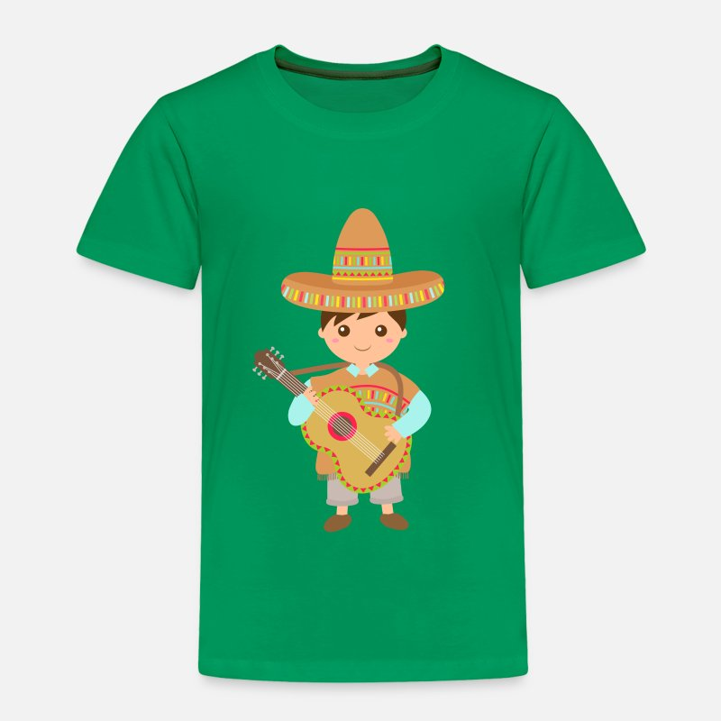 Fiesta Baby Clothing - boy mexican guitar - Toddler Premium T-Shirt kelly green