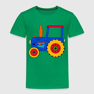 Blue Tractor toy tractor blue - Toddler Premium T-Shirt