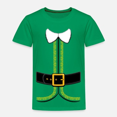 Elf Christmas Elf Costume for Kids and Adults - Toddler Premium T-Shirt